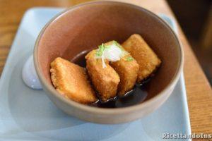 Tofu sale e pepe fritto