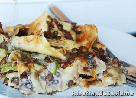 Lasagne vegan alle lenticchie e zucchine